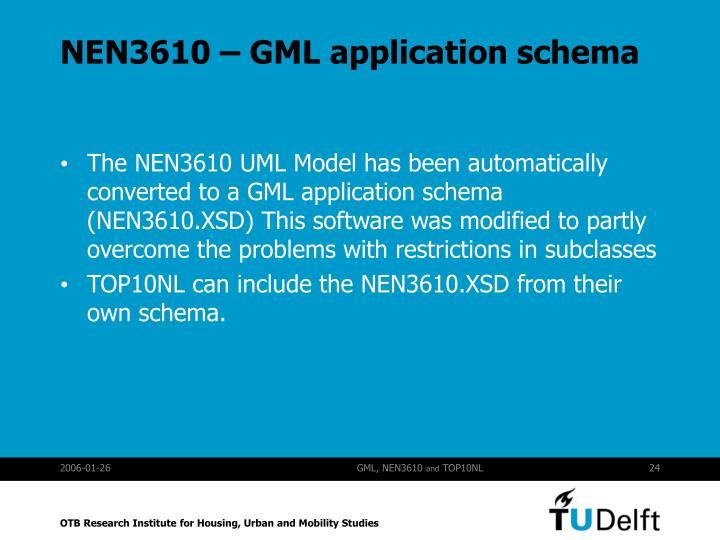 NEN3610 – GML application schema