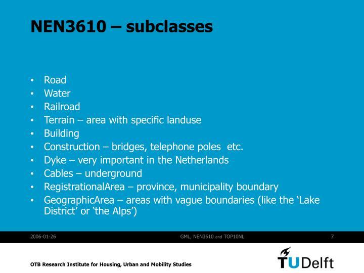 NEN3610 – subclasses
