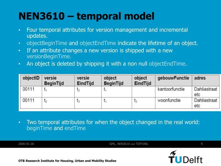 NEN3610 – temporal model