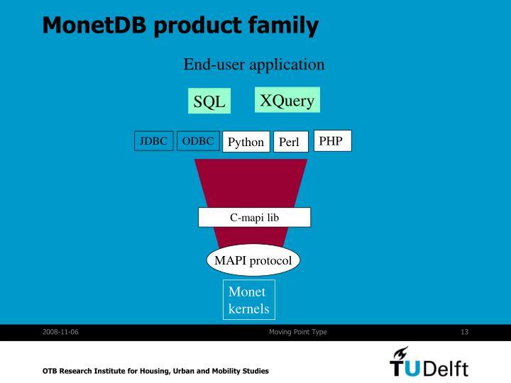 MonetDB product family