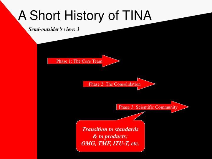 A Short History of TINA