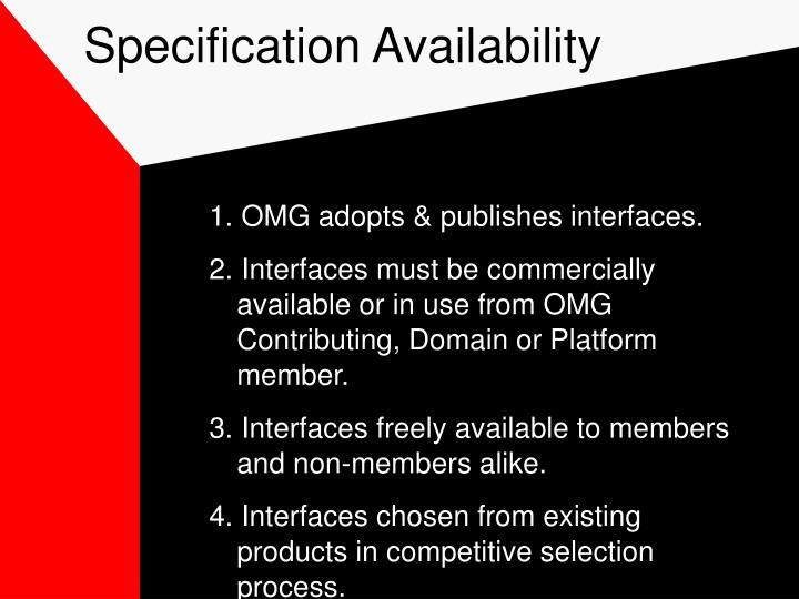 Specification Availability