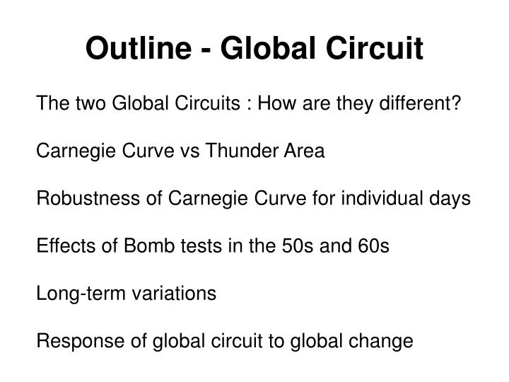 Outline - Global Circuit