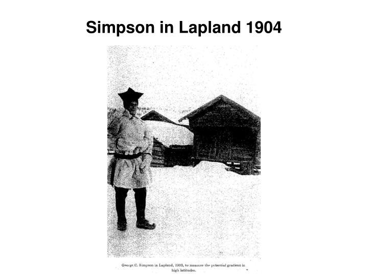 Simpson in Lapland 1904