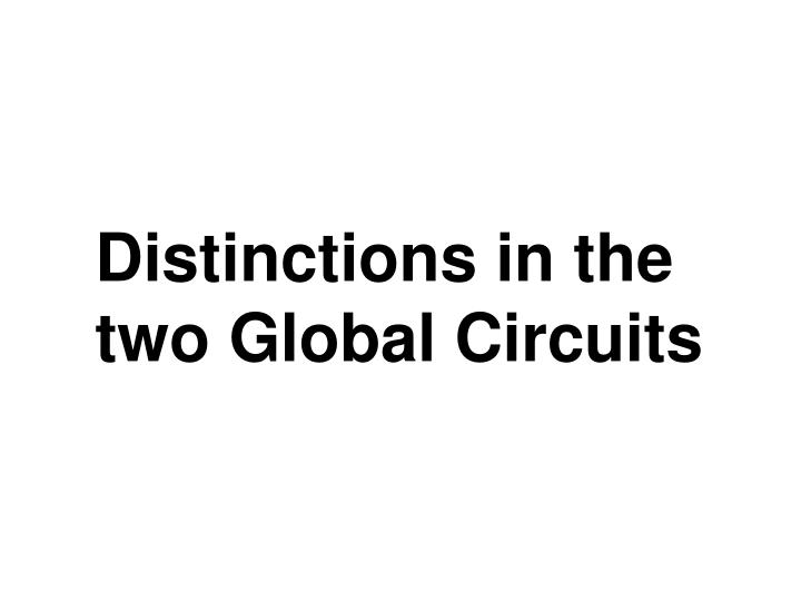 Distinctions in the