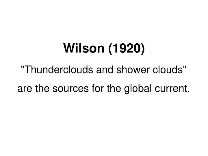 Wilson (1920)