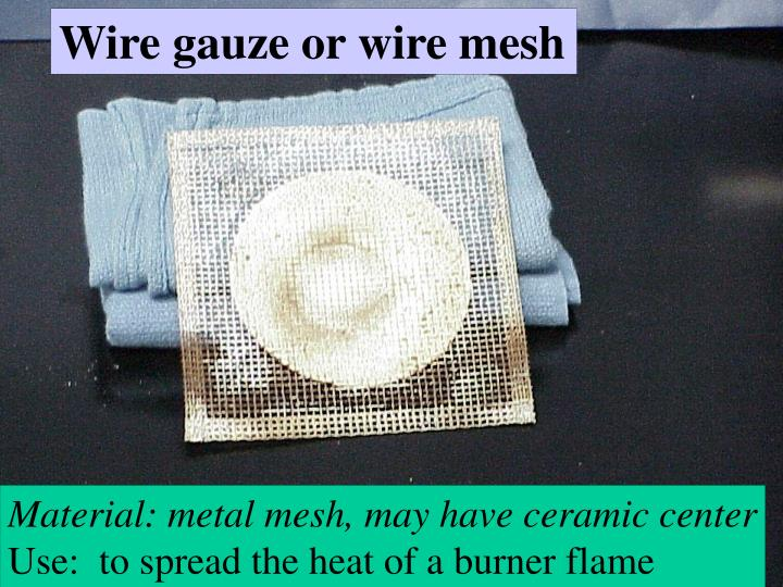Wire gauze or wire mesh