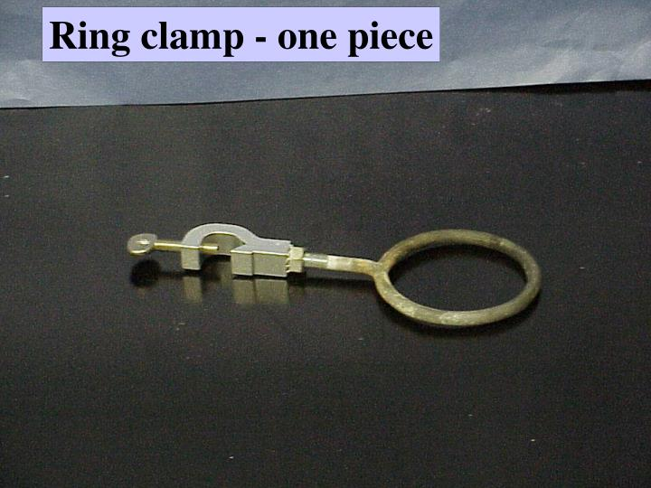 Ring clamp - one piece