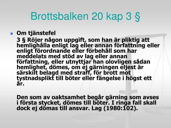 Brottsbalken 20 kap 3 §