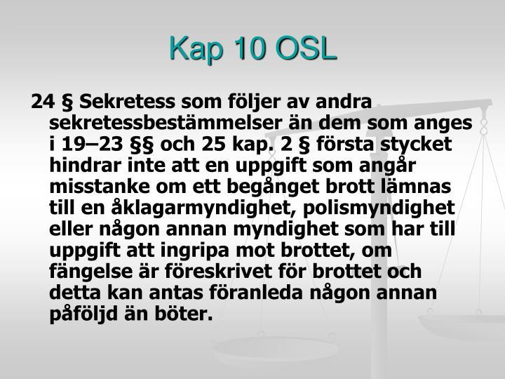 Kap 10 OSL
