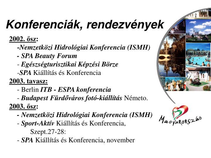 Konferenciák, rendezvények