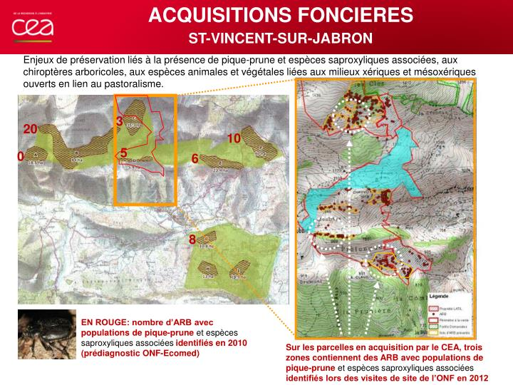 ACQUISITIONS FONCIERES