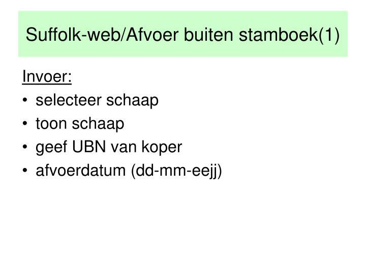 Suffolk-web/Afvoer buiten stamboek(1)