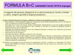 formula b c garanzia facoltativa impiegati