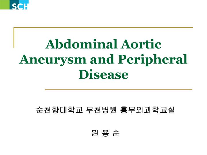 abdominal aortic aneurysm and peripheral disease
