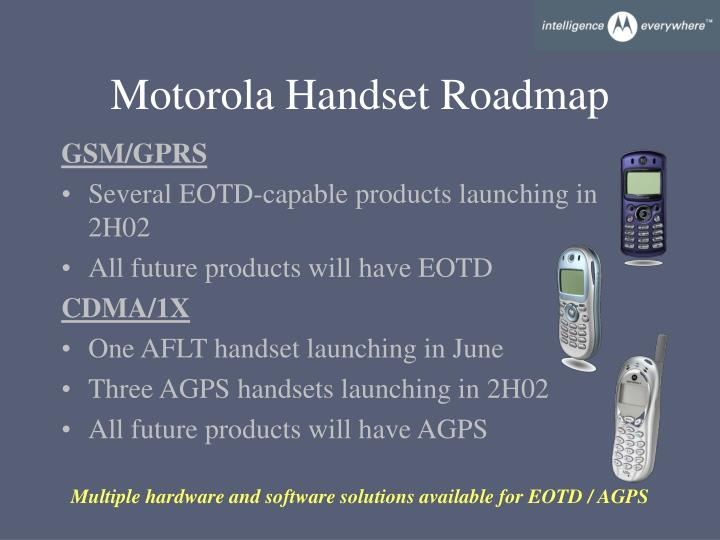 Motorola Handset Roadmap