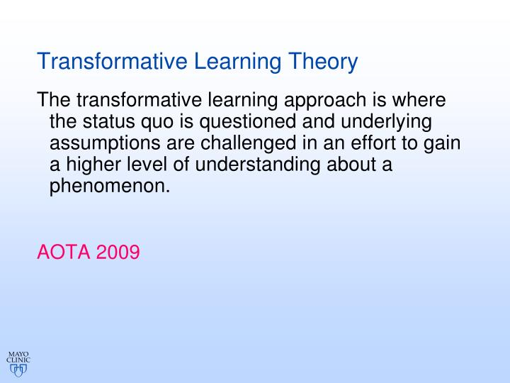 Transformative Learning Theory