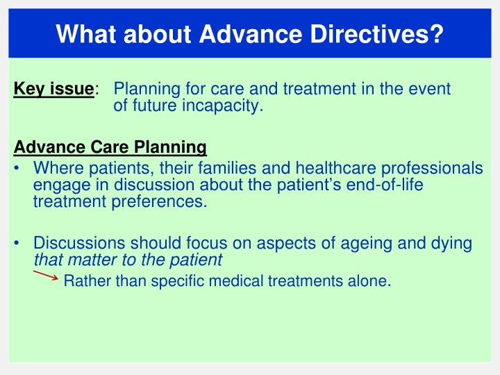 What about Advance Directives?