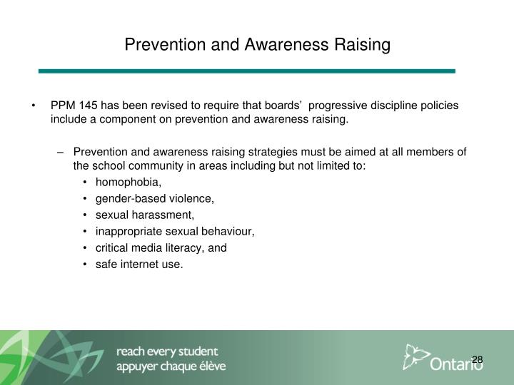 Prevention and Awareness Raising