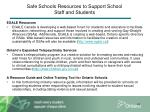 safe schools resources to support school staff and students1