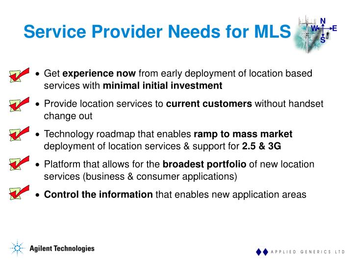 Service Provider Needs for MLS