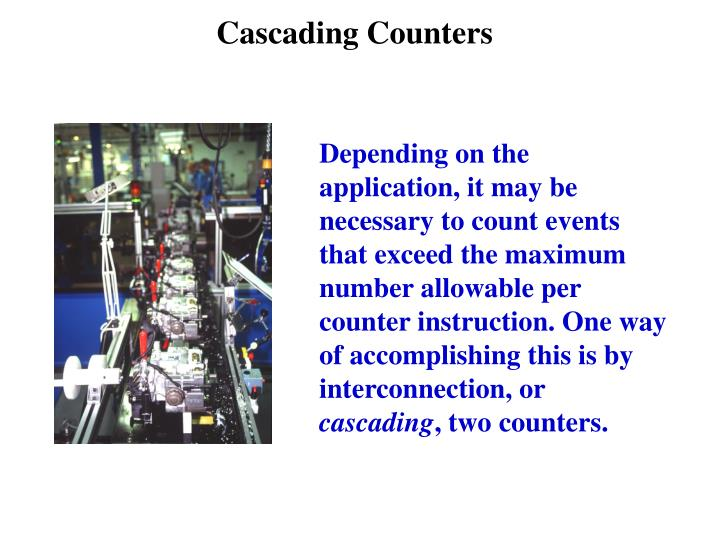 Cascading Counters