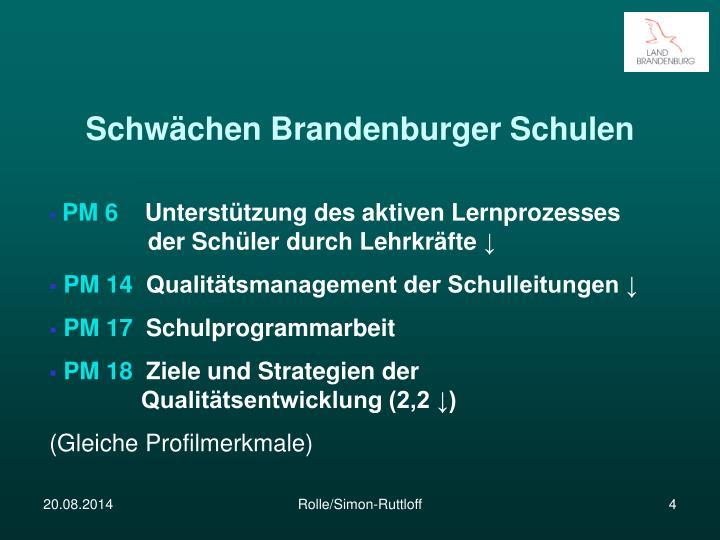 Schwächen Brandenburger Schulen