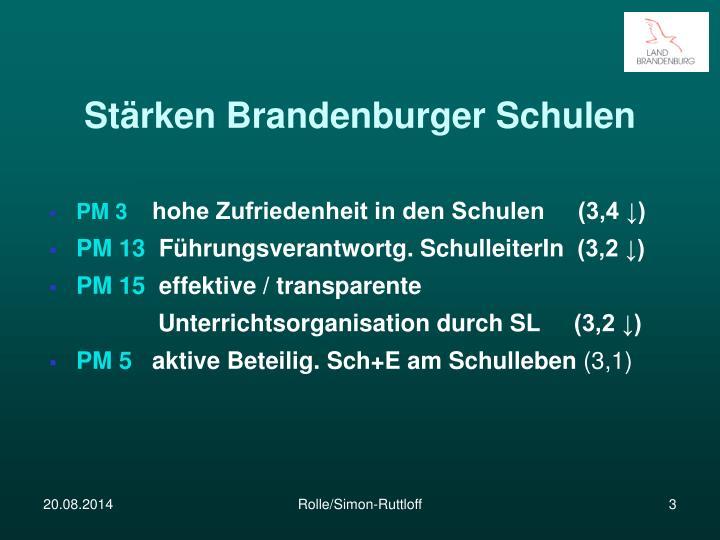 Stärken Brandenburger Schulen