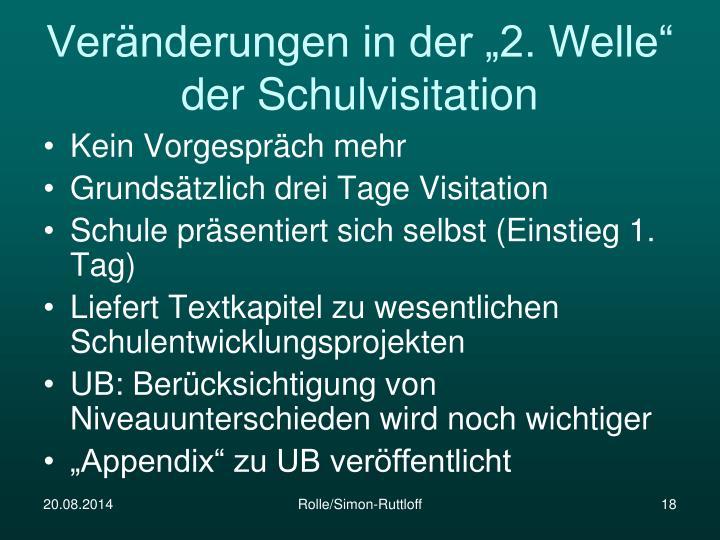 """Veränderungen in der """"2. Welle"""" der Schulvisitation"""