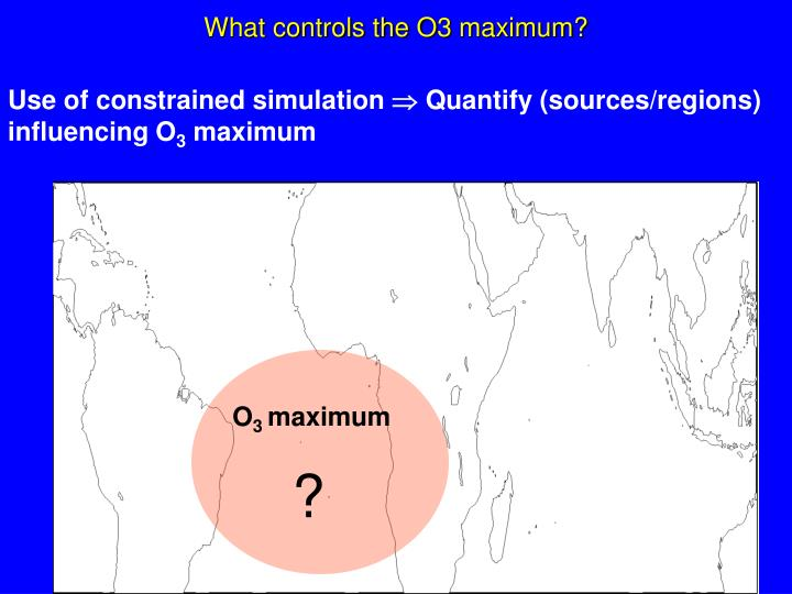 What controls the O3 maximum?