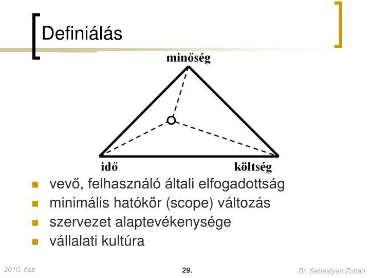 Definiálás