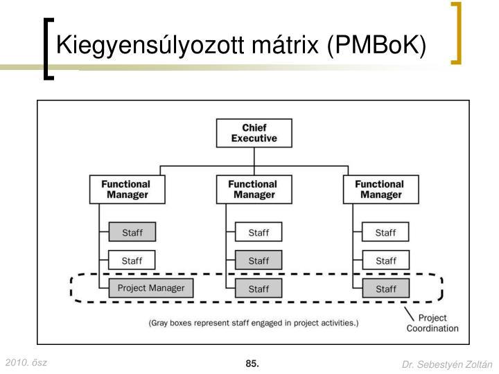 Kiegyensúlyozott mátrix (PMBoK)