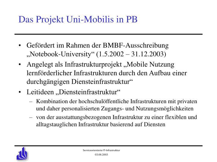 Das Projekt Uni-Mobilis in PB