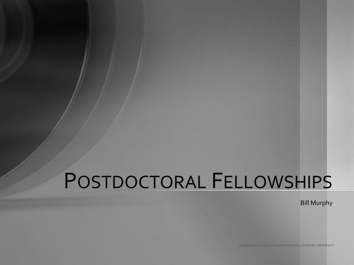 postdoctoral fellowships