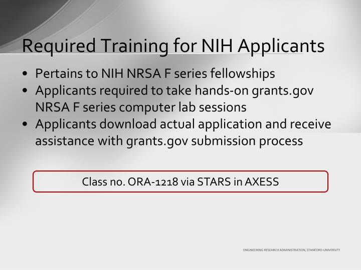 Required Training for NIH Applicants