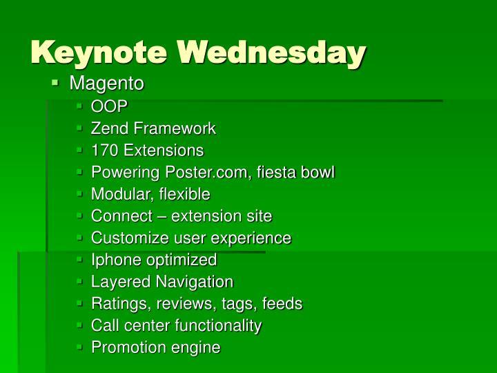 Keynote Wednesday