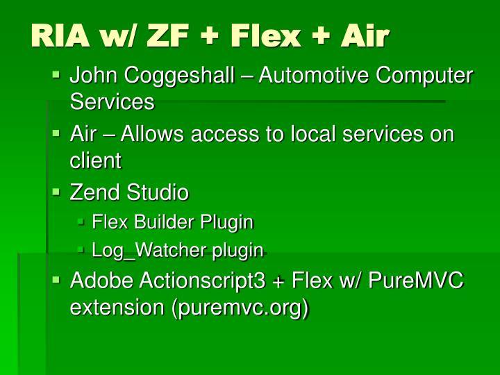RIA w/ ZF + Flex + Air