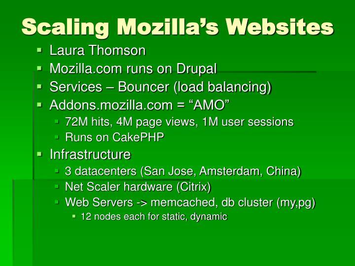 Scaling Mozilla's Websites