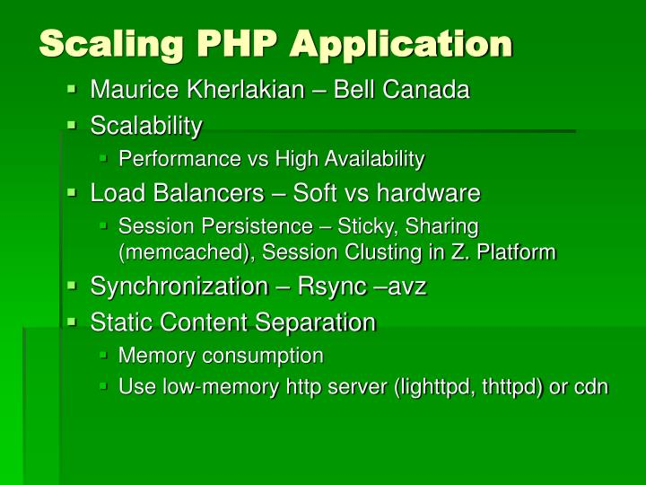 Scaling PHP Application