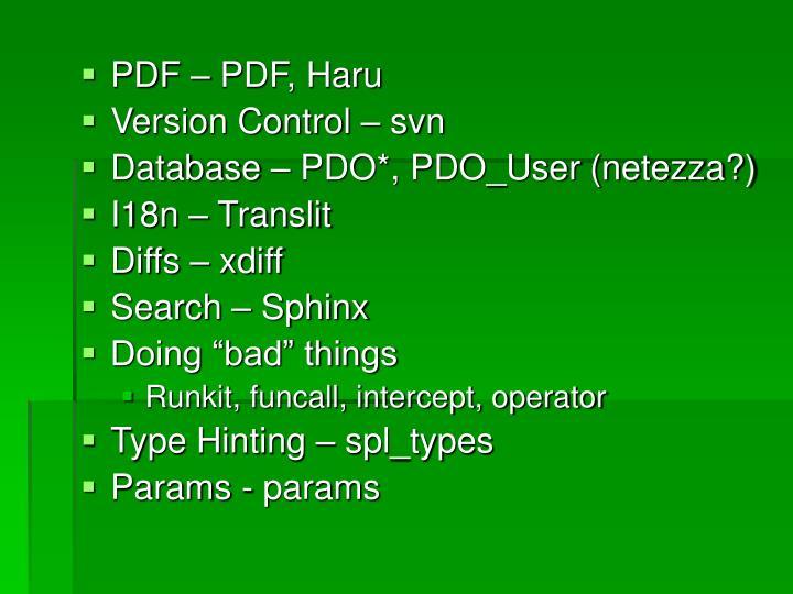 PDF – PDF, Haru