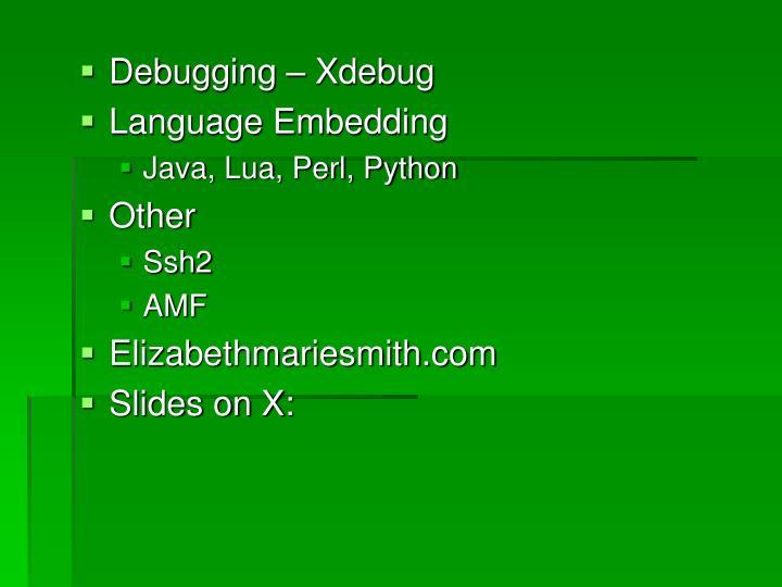 Debugging – Xdebug