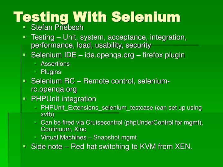Testing With Selenium