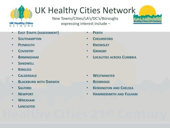 UK Healthy Cities