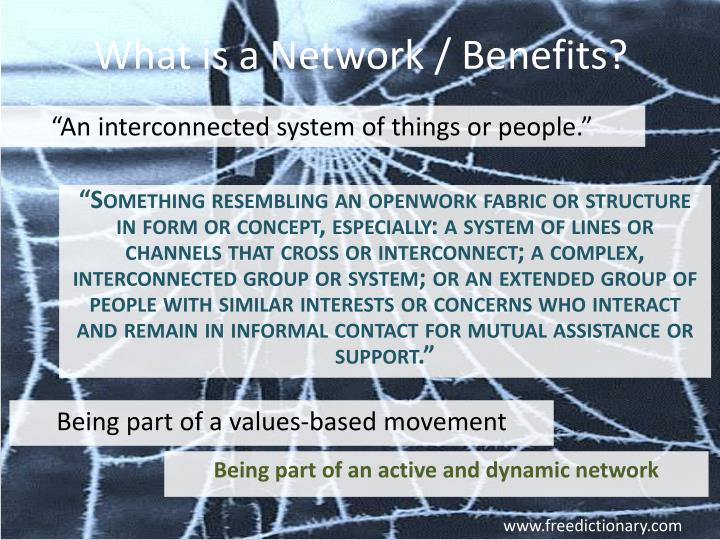 What is a Network / Benefits?
