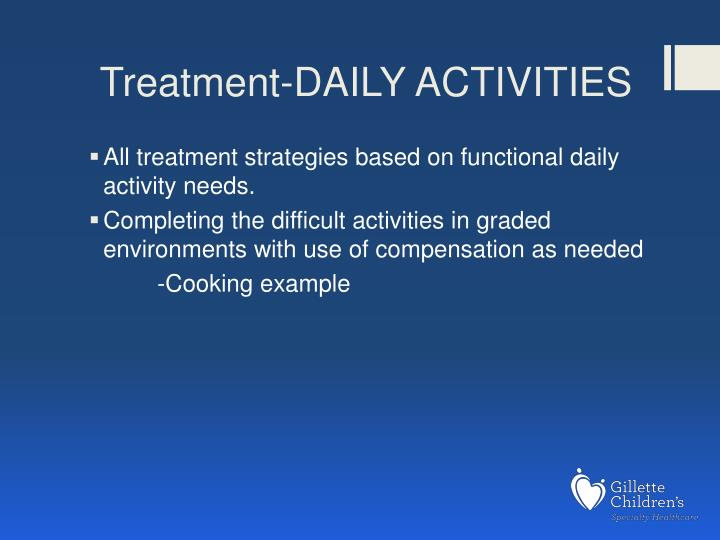 Treatment-DAILY ACTIVITIES