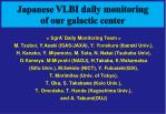 japanese vlbi daily monitoring of our galactic center