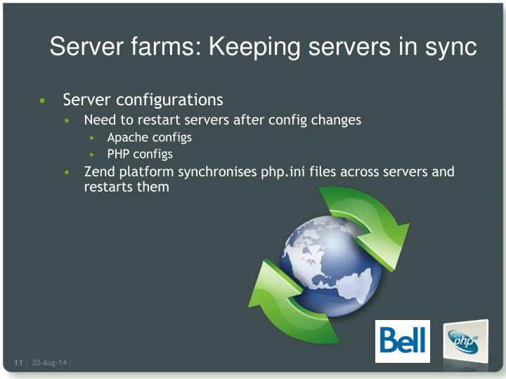 Server farms: Keeping servers in sync
