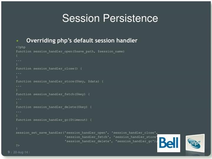 Session Persistence