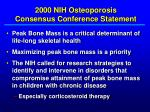 2000 nih osteoporosis consensus conference statement