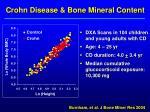 crohn disease bone mineral content